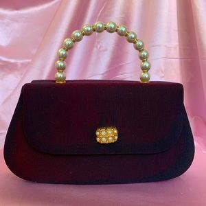 Vintage Faux pearl 80s 70s Mini hand bag